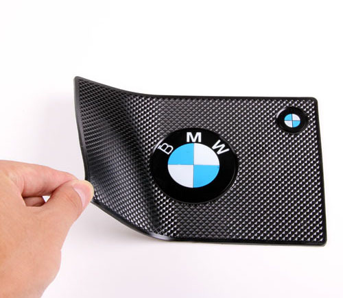 Non Slip Car Dashboard Sticky Anti Slip Mat Phone Pad Logo For BMW